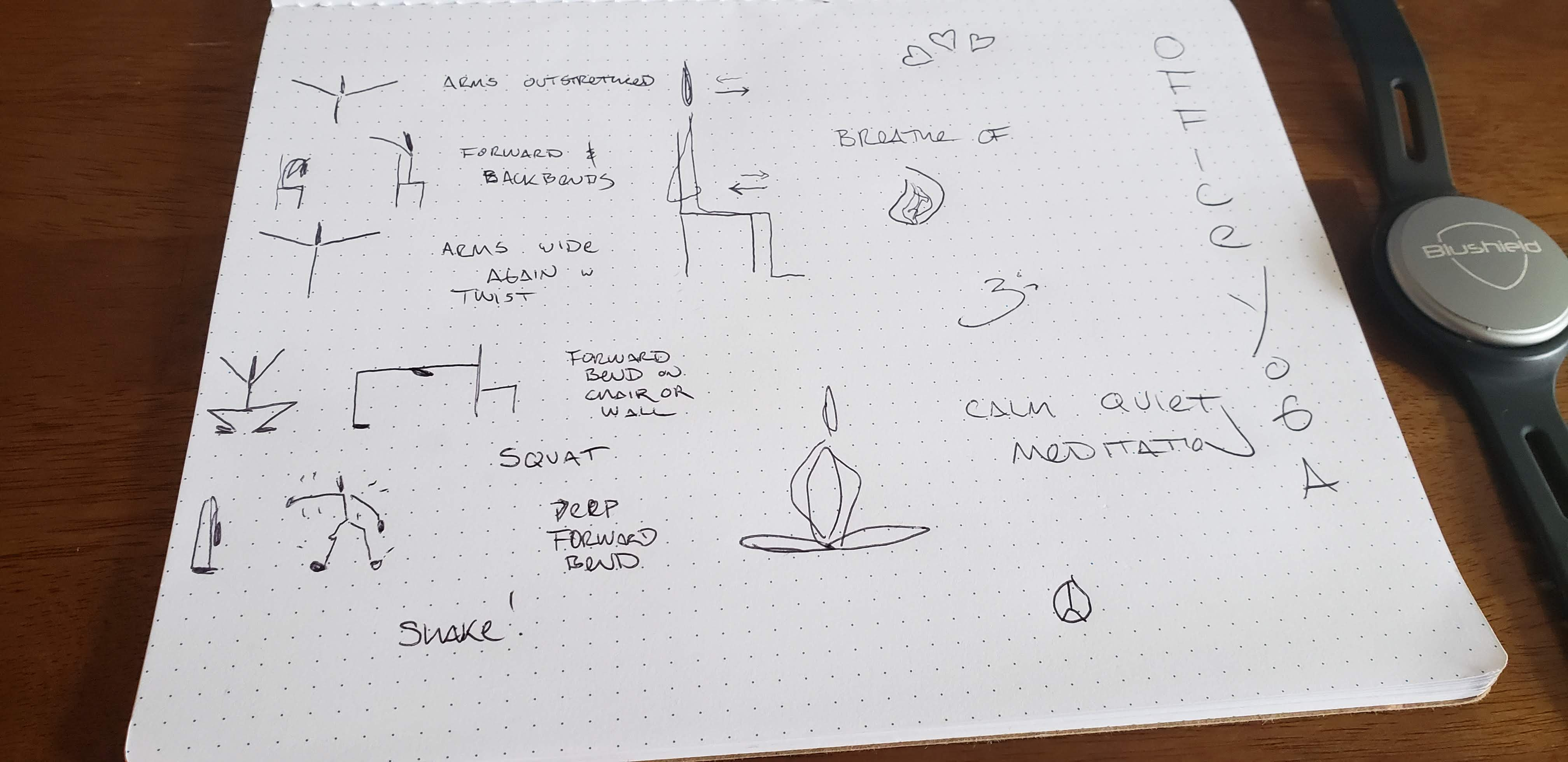 Sketches for this week's Office Yoga